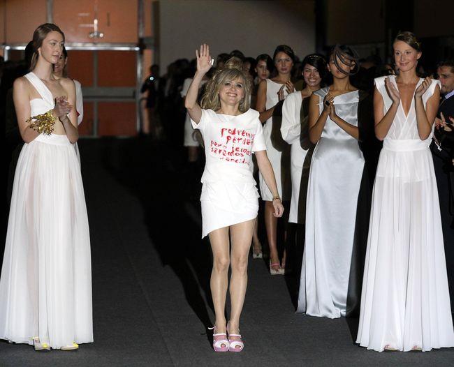 Desfile de la diseñadora Maria Lafuentemadrid 17.9.13